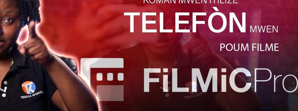 Si w anrejistre videyo ak telefòn ou FILMIC PRO dwe aplikasyon paw