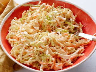 Fresh Chinese cabbage makes the best coleslaw