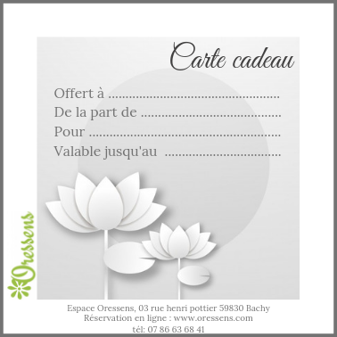 Carte cadeau massage Energie