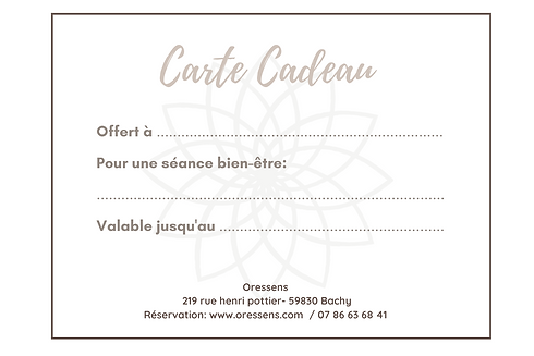 Brown Modern Massage Gift Certificate (3