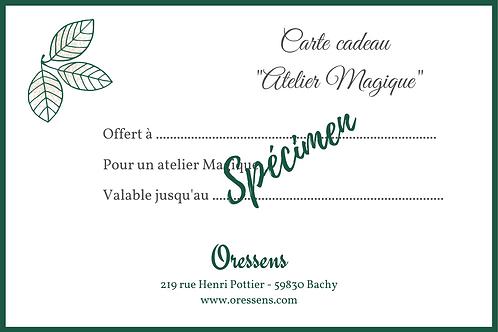 Carte cadeau Atelier Magique