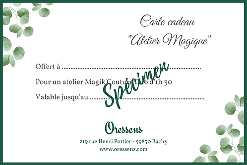 "Carte cadeau Atelier ""Magik'Couture Duo"""