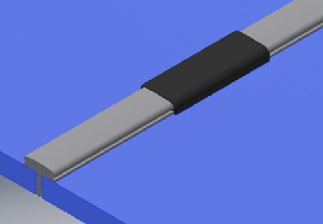Gasket between panels
