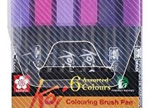 Sakura Koi Brush Pen Set 6's