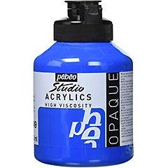 49 Pebeo primary blue acrylic jar 500ml