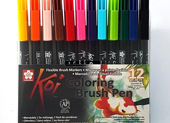 Sakura Koi Brush Pen Set 12's
