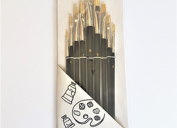Tiger Flat Artist Brush 9s