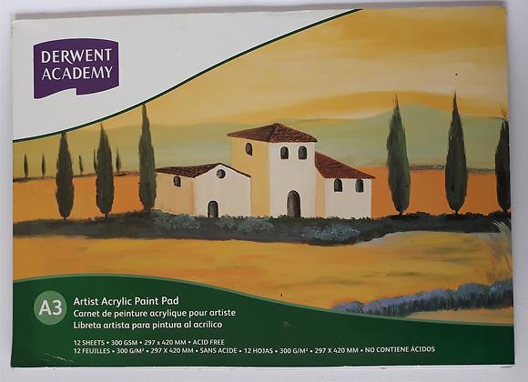 Derwent - Oil Paper Pad A3 (12 Sheets)
