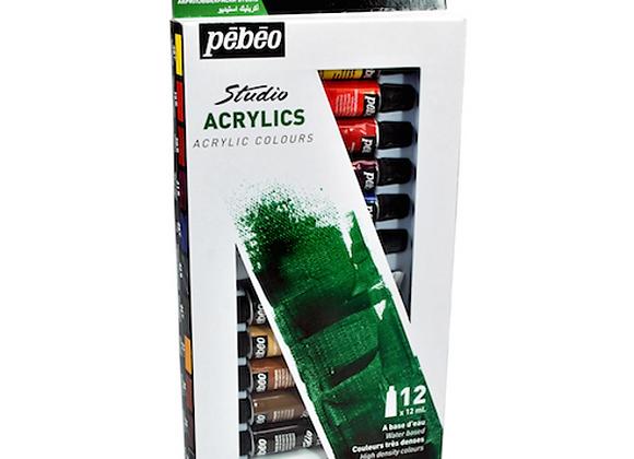 Pebeo Acrylic Set 12x12ml