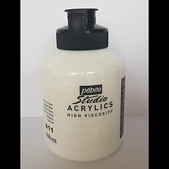 11 Pebeo titanium white acrylic jar 500ml