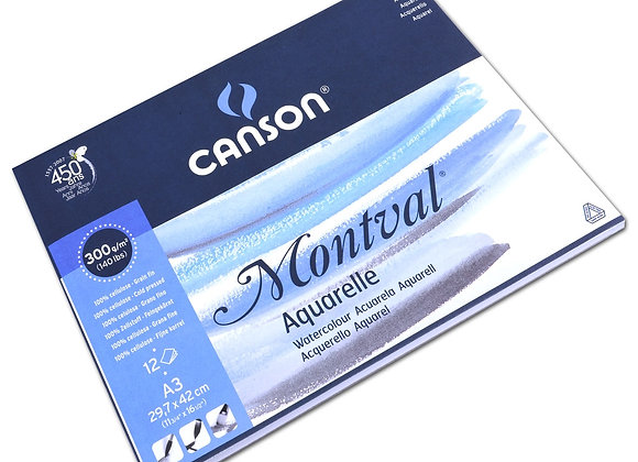 Canson Montval Pad A3 300gsm