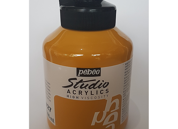 27 Pebeo yellow ochre acrylic jar 500ml