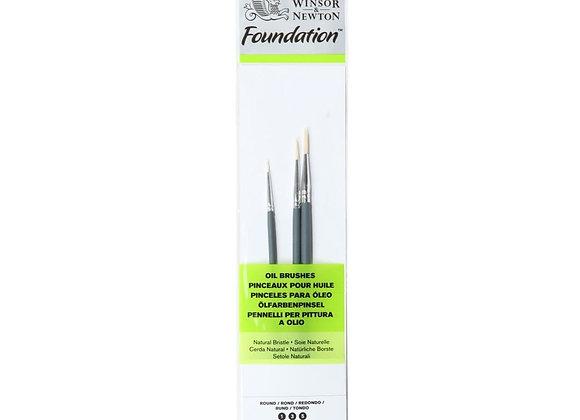 Winsor & Newton Round Oil Brush Set (1,3,5)