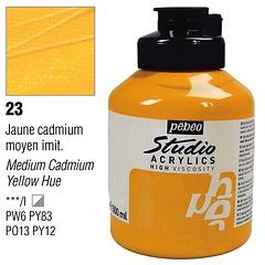 23 Pebeo Jaune Yellow Cadmium Acrylic Jar 500ml