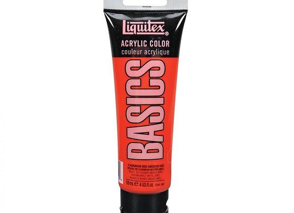 Liquitex Basics Cadmium Red Medium Hue 118ml