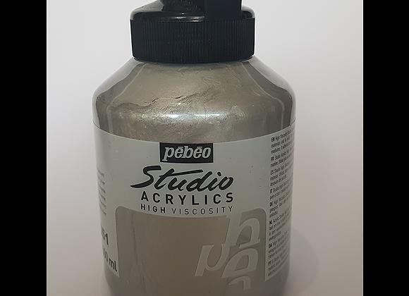 351 Pebeo silver acrylic jar 500ml