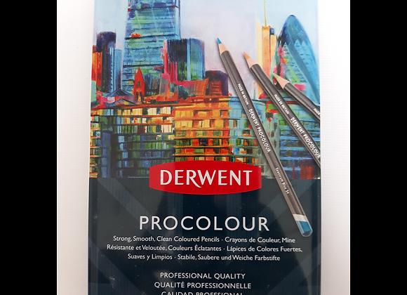 Derwent Watercolour Pencil 12's PROCOLOUR