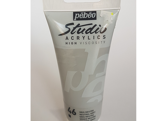 46 Pebeo neutral grey acrylic 100hv