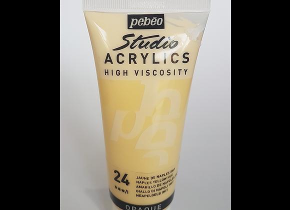 24 Pebeo naples yellow acrylic 100hv