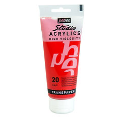 20 Pebeo Scarlet Red Acrylic 100ml