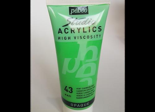 43 Pebeo Studio Acrylics High Viscosity Cadmium Green Hue 100ml