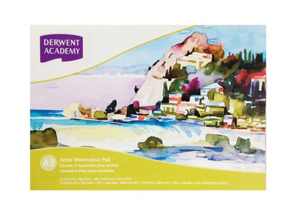 Derwent - Water Color Paper (12 sheets)