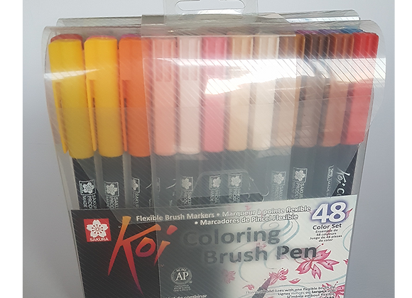 Sakura Koi Color Brush Pen 48's Assorted