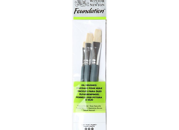 Winsor & Newton Flat Oil Brush Set (4,10,14)