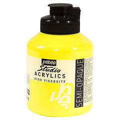 22 Pebeo Lemon Cadmium Yellow Acrylic Jar 500ml