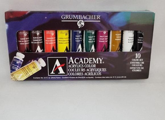 Grumbacher Academy Acry set C1030