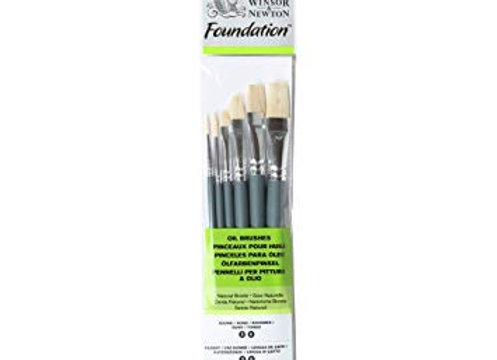 Winsor & Newton Oil Brush Set (R3,R6,F3,F6,F10,F14)
