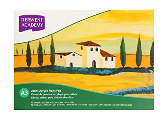 Derwent - Acrylic Paper Pad A3 (12 sheets)
