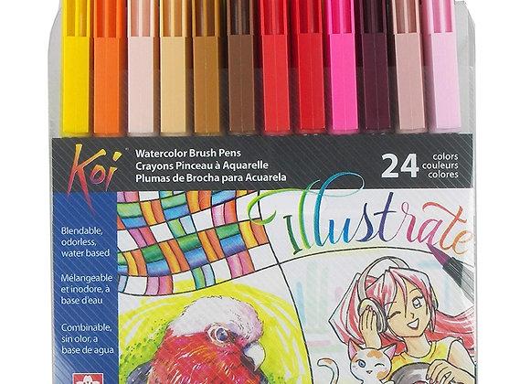 Sakura Koi Brush Pen Set 24's