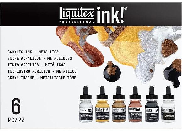 Liquitex Ink Set 6x30ml Metallic
