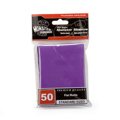 Standard Flat Matte Sleeves Purple
