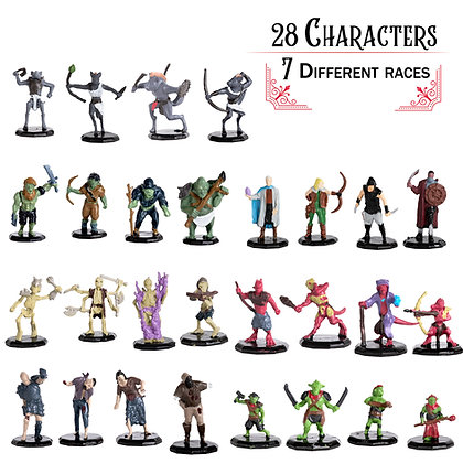 Painted Variety Pack DnD Miniatures 28pk