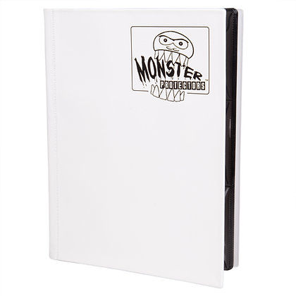 9 Pocket Matte White Card Binder