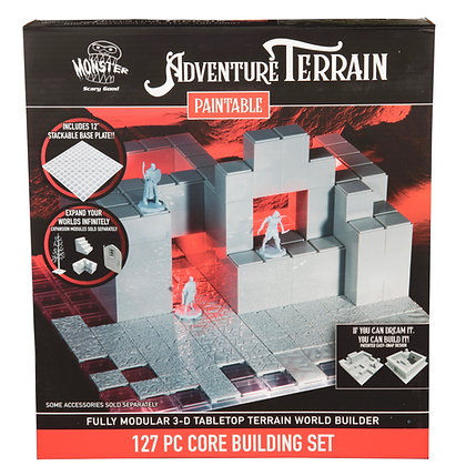 127 Piece Core Building Set, Paintable