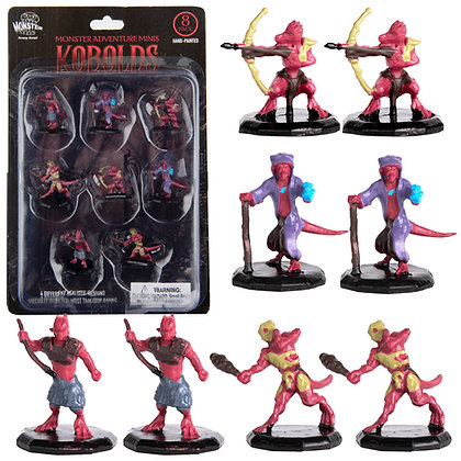 Painted Kobolds DnD Miniatures 8pk