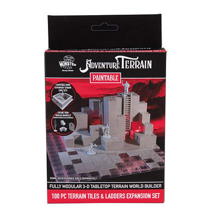 100 Piece Terrain Expansion Set, Paintable