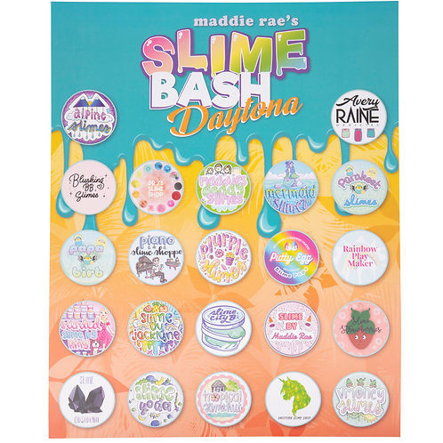 """Slime Bash Daytona VIPs Autograph Poster 16"""" x 20"""""""