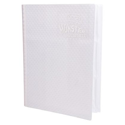 9 Pocket Holofoil White Card Binder