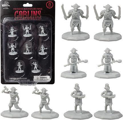 Unpainted Goblins DnD Miniatures 8pk