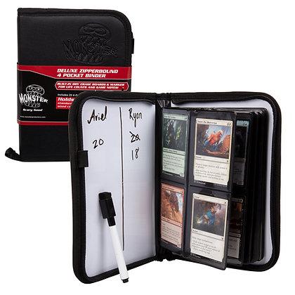 Deluxe 4 Pocket Zipperbound Trading Card Album