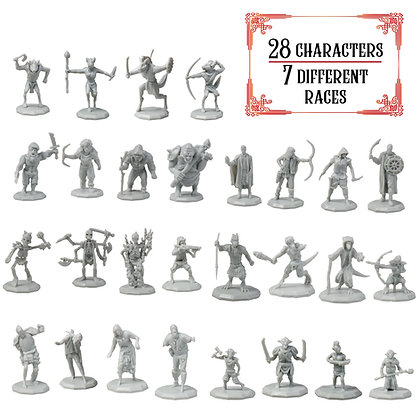 Unpainted Variety Pack DnD Miniatures 28pk