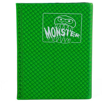 4 Pocket Holofoil Green Card Binder
