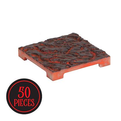 Monster Terrain   50 Cracked Tile   Painted, Lava