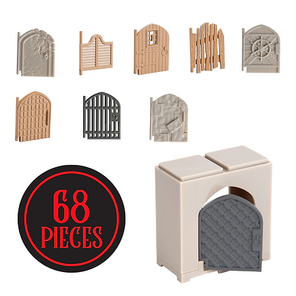 Monster Adventure Terrain | 68 Piece Door Set