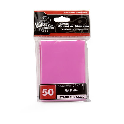 Standard Flat Matte Sleeves Pink