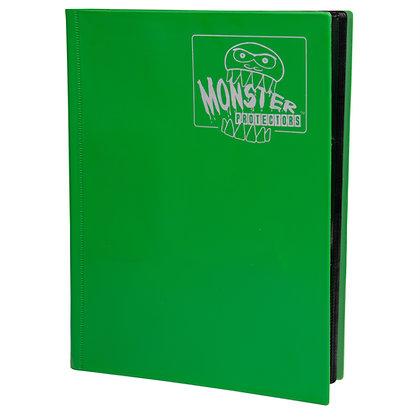 9 Pocket Matte Emerald Green Card Binder